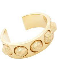Balenciaga Gold Studded Cuff - Lyst