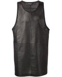 Givenchy Black Mesh Tank - Lyst