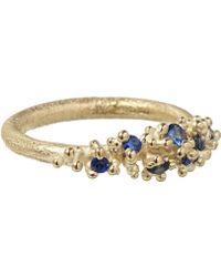 Ruth Tomlinson - Gold Sapphire Granule Ring - Lyst
