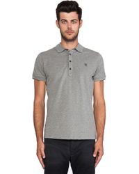 Diesel Gray Alfred Polo - Lyst