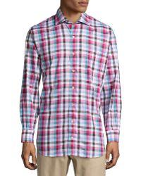 Peter Millar Check Woven Sport Shirt - Lyst