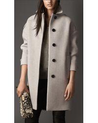 Burberry Oversize Virgin Wool Cashmere Herringbone Caban - Lyst