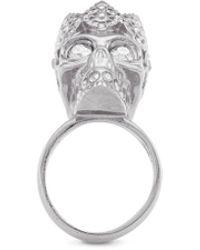 Alexander McQueen King Skull Ring silver - Lyst