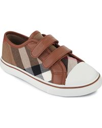 Burberry House Check Velcro Trainers - Lyst