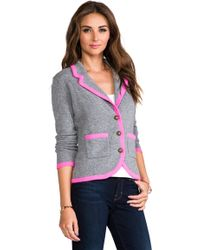 Autumn Cashmere - Contrast Tipped Blazer in Gray - Lyst