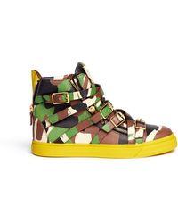 Giuseppe Zanotti 'London' Camouflage Print Leather Sneakers - Lyst