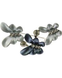 Indulgence Jewellery - Blue Triple Butterfly Brooch - Lyst