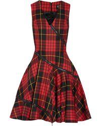 McQ by Alexander McQueen Tartan Wool Dress - Lyst