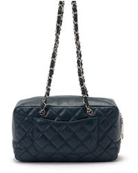 Chanel Pre-Owned Quilted Calf Skin Shoulder - Lyst