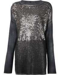Avant Toi Sequinned Sweater - Lyst