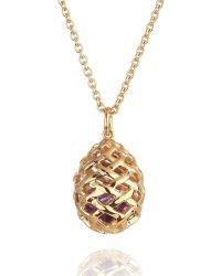 Kinnari - Gold Medium Egg Pendant With Amethyst - Lyst