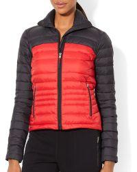 Ralph Lauren Lauren Color Block Puffer Jacket - Lyst