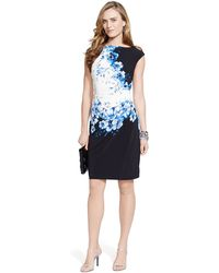 Lauren by Ralph Lauren Petite Floral-Print Sheath Dress - Lyst