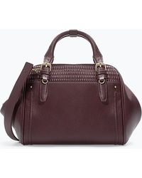 Zara Bowling Bag with Quilted Detail - Lyst