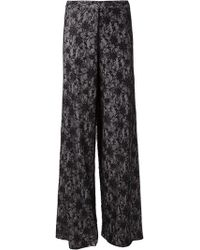 Alice + Olivia Lace Wide Leg Trousers - Lyst