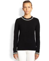 Michael Kors Jeweled Cashmere Sweater - Lyst
