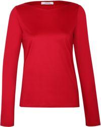 Dorothee Schumacher   red Multiple Visions Shirt V-neck 1/1   Lyst