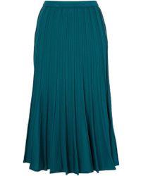 Le Ciel Bleu Pleated Midi Skirt - Lyst