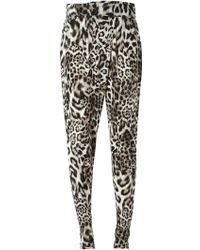 MICHAEL Michael Kors Leopard Print Trousers - Lyst