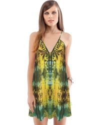 Twelfth Street Cynthia Vincent Embroidered Mini Dress - Lyst