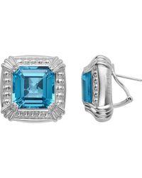 Slane - Voltaire Square Blue Topaz Earrings - Lyst