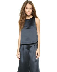 Tibi Side Lace Top  - Lyst