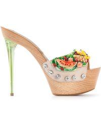 Gianmarco Lorenzi Fruit Embellished Platform Sandals - Lyst