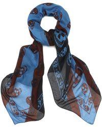 Alexander McQueen New Union Jack Skull Scarf - Lyst