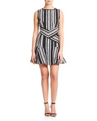 Carven Striped Tweed Dress - Lyst