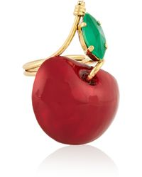 Erickson Beamon - Cherry Pie Gold-plated - Lyst
