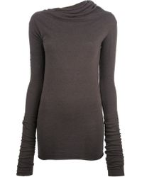Rick Owens Lilies Cowl Neck Top - Lyst