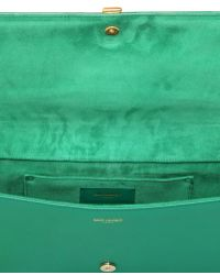 Saint Laurent - Y Brushed Leather Clutch - Lyst