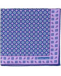 Edward Armah - Medallion-pattern Silk Pocket Square - Lyst