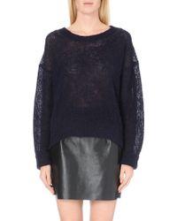 Acne Studios Bernike Sheer Knitted Jumper - For Women - Lyst
