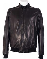 Ferragamo Reversible Black Lambskin Jacket - Lyst