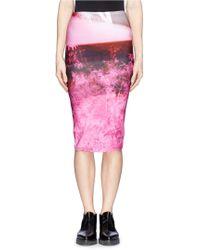 McQ by Alexander McQueen Haze Print Jersey Pencil Skirt - Lyst