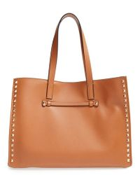 Valentino Rockstud Soft Leather Tote - Lyst