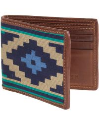 J.Crew Smathers & Branson® Needlepoint Gaucho Bi-Fold Wallet multicolor - Lyst