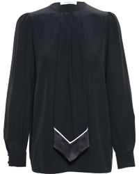 Givenchy Tie Detail Blouse - Lyst