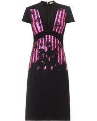 Bottega Veneta Embroidered Japanese-crepe Dress - Lyst