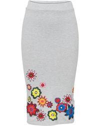 House of Holland Embellished Tube Skirt beige - Lyst
