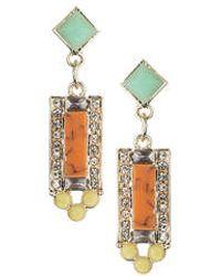 Topshop Square Drop Pastel Earrings - Lyst