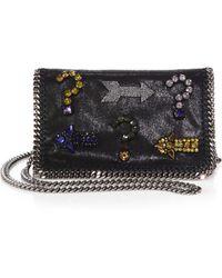 Stella McCartney Falabella Embellished Chain Clutch - Lyst