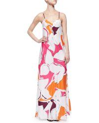 Diane von Furstenberg Garden-Print Silk Maxi Dress - Lyst