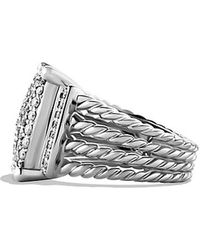 David Yurman Wheaton Ring With Diamonds - Lyst