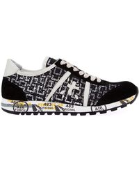 Premiata Black 'Lucy' Sneakers - Lyst