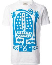Marc Jacobs Blue Printed Tshirt - Lyst