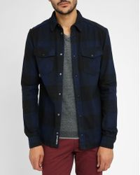 Eleven Paris | Navy/black Plaid Flannel Overshirt | Lyst