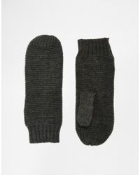 Pieces - Knitted Mittens - Lyst