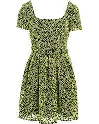 Christopher Kane Green Short Dress - Lyst